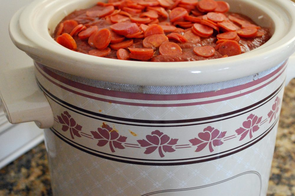 Pizza Casserole for the Crock Pot