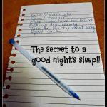 Braindumping…the secret to a good night's sleep!