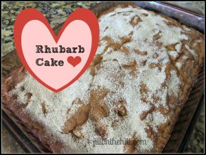 How to use up that rhubarb- part 2 (Rhubarb Cake)
