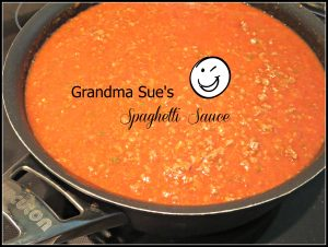 Grandma Sue's Spaghetti Sauce