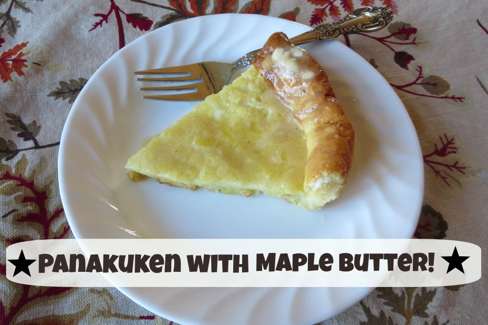 Panakuken with Maple Butter