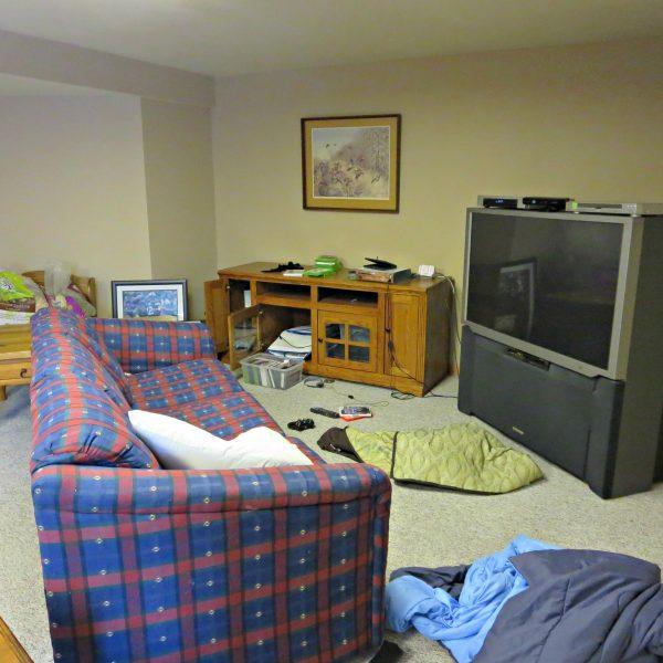 91 Day De-Cluttering Challenge- basement