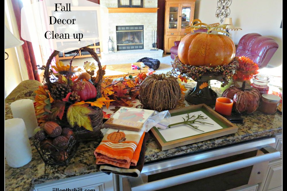 Fall Decor Clean up