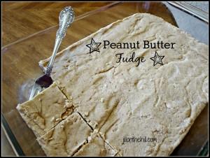 Grandma Jeane's Peanut Butter Fudge