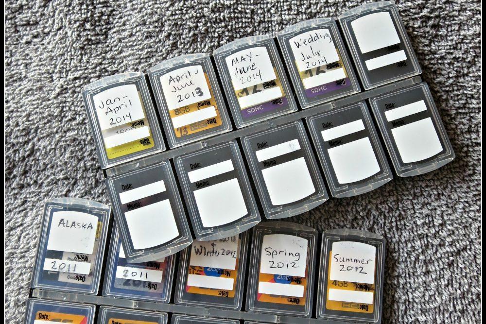 How I Organize my Memory Cards