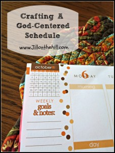 Crafting A God Centered Schedule