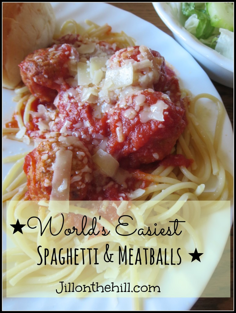 Spaghetti & Meatballs- Jillonthehill.com