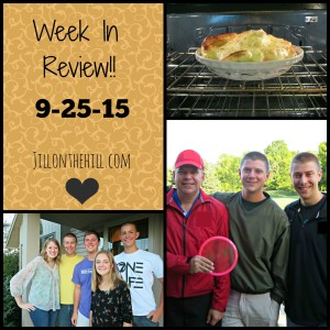 Week in Review- September 25th, 2015