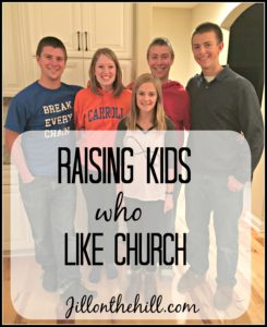 Raising kids who enjoy church: Our experience