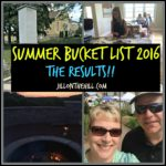 Summer Bucket List 2016- The Results!