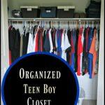 Organized Teen Boy Closet