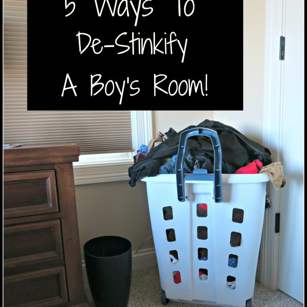Ask Ms. Jilly-  5 Ways to De-stinkify a boy's room