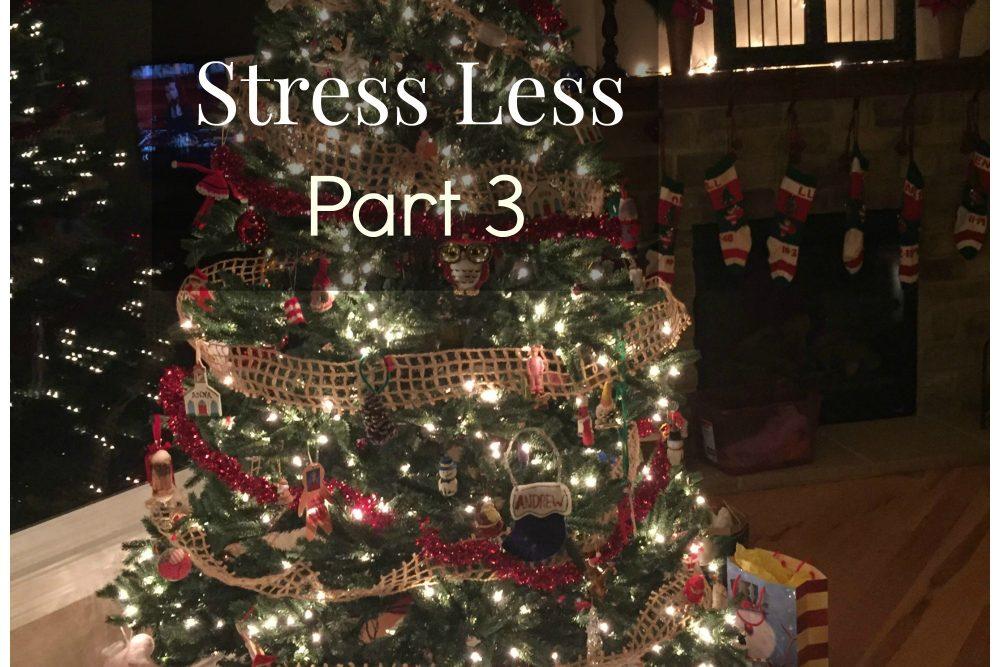 Christmas: Stress Less- Part 3 (December)