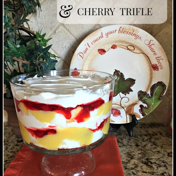 Banana Cream & Cherry Trifle