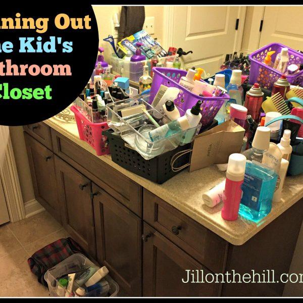 Organizing a Kid's Bathroom Closet