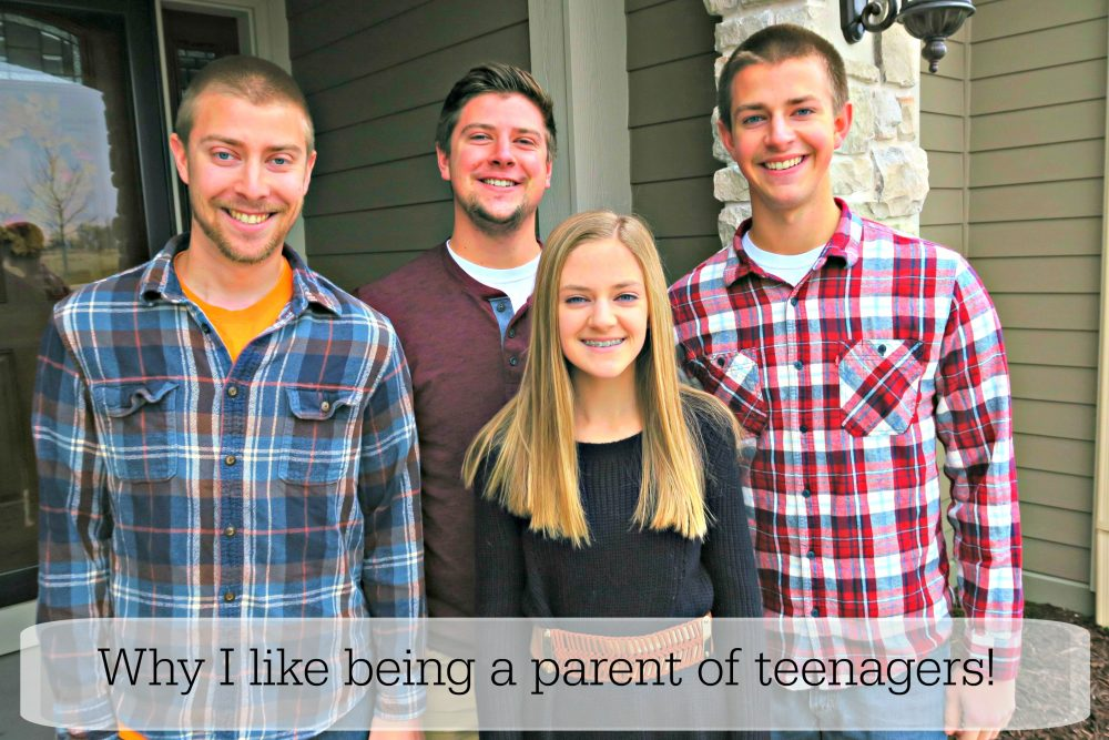 Things I like about being the parent of teens!