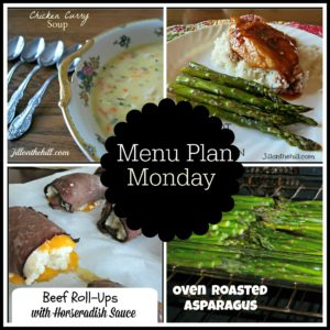 Menu Plan Monday- January 8, 2018