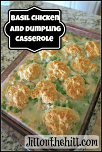 Basil Chicken and Dumpling Casserole