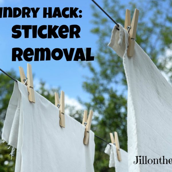 Laundry Hack: Sticker Removal