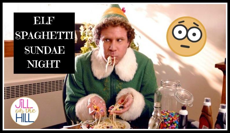 Elf Spaghetti Sundae Night