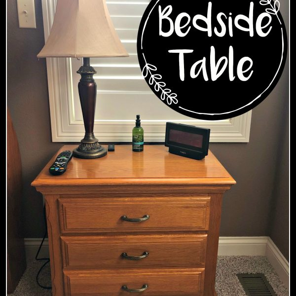 Let's Look At Our Bedside Table!