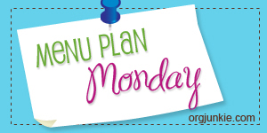 Menu Plan- April 27 – May 1, 2015